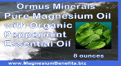 Ormus Minerals PURE Magnesium Oil with Organic Peppermint EO