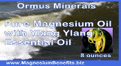 Ormus Minerals PURE Magnesium Oil with Ylang Ylang EO
