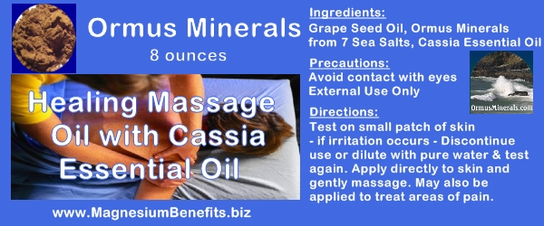 Ormus Minerals Healing Massage Oil with Cassia